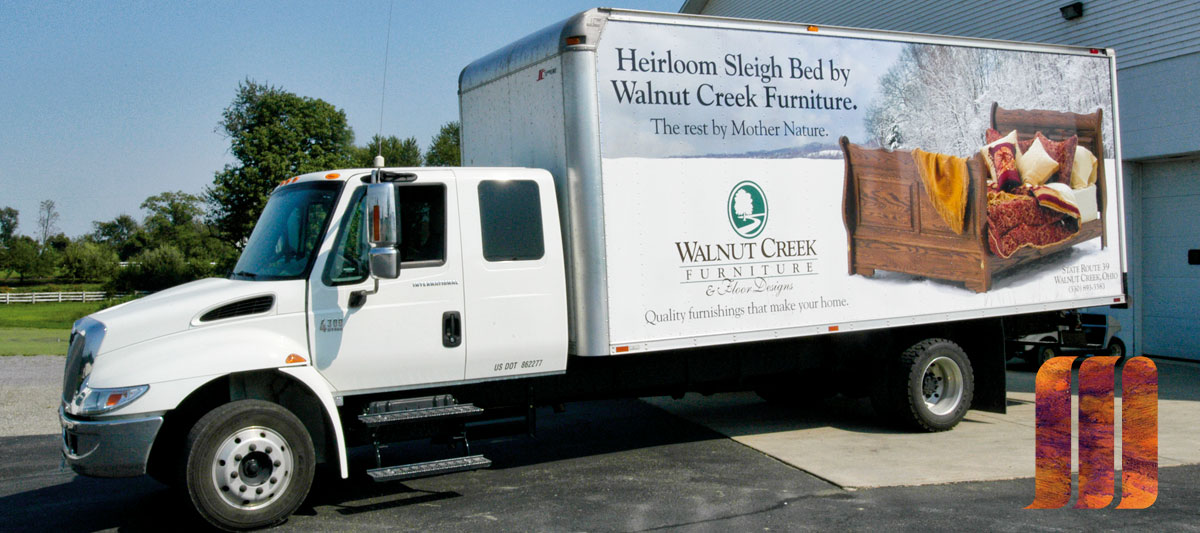 Walnut Creek Furniture Truck Signage